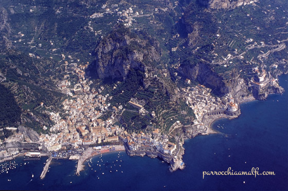 Amalfi veduta aerea