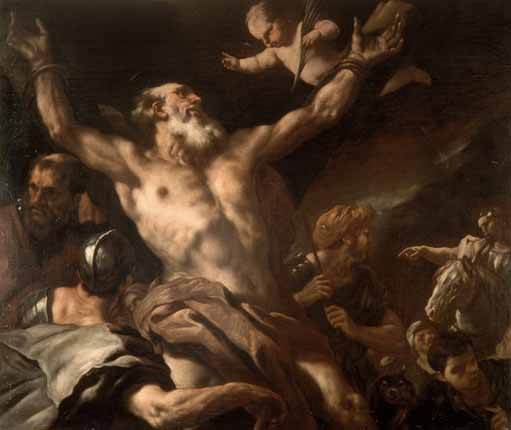 CROCIFISSIONE DI S. ANDREA di Luca Giordano