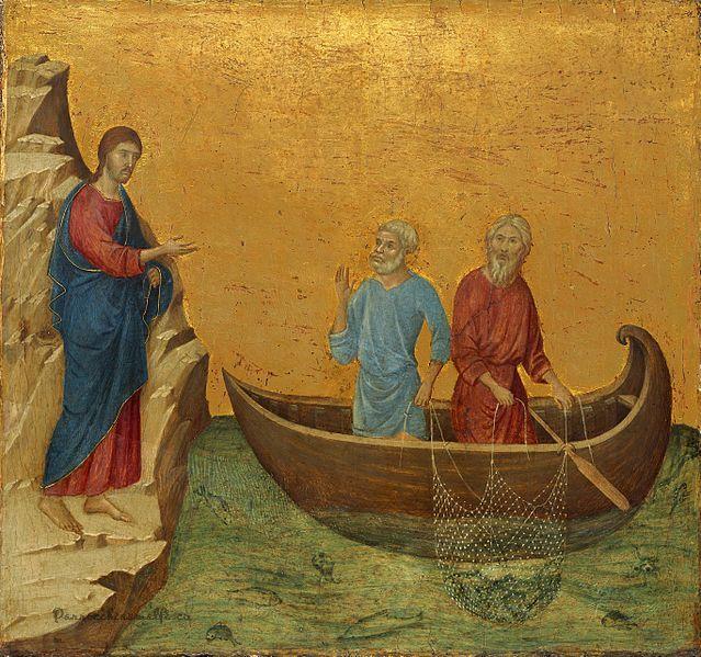 Duccio di Buoninsegna (1260–1318) La vocazione di S.Andrea