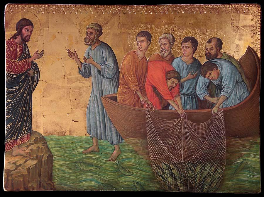 Pesca Miracolosa da Duccio di Boninsegna
