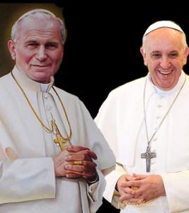 papa wojtyla francesco bergoglio