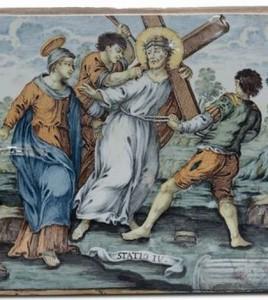 maiolica via crucis1