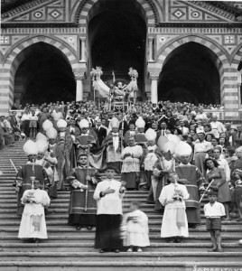27 giugno 1947, prima Processione di Mons. Angelo Rossini.