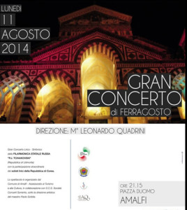 concerto ferragosto Amalfi