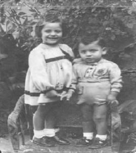 Marilena e Francesco Pacileo nell'ottobre del 1949