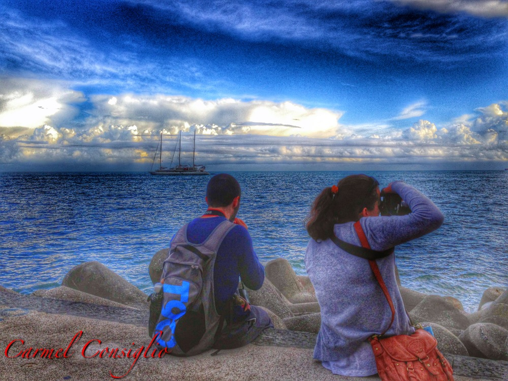 Ammirando il mare