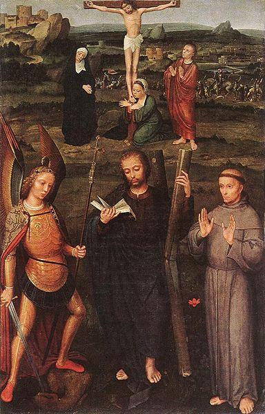 Adriaen Isenbrant San Michele Arc.,St.Andrea e S. Francesco di Assisi