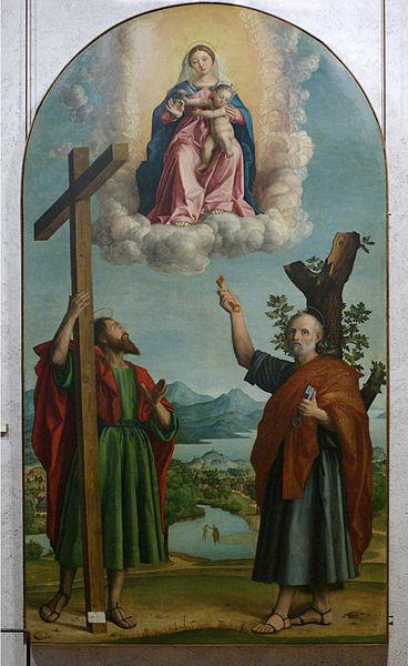 Girolamo dai Libri-Madonna della quercia 1533 Museo Castelvecchio Verona