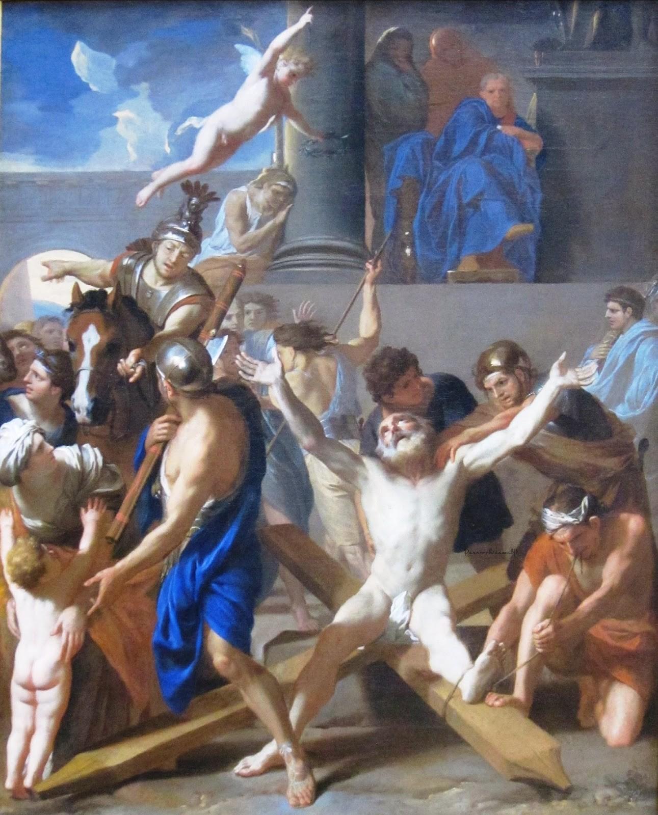 Il Martirio di S.Andrea di Charles Le Brun, Getty 1646-47