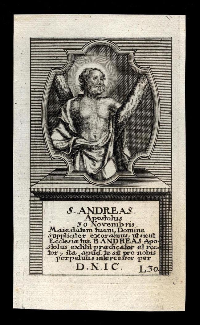 Santino, incisione del 1700